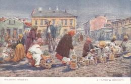 З торгу в Коломиї - мал. Валеріана Крицінського (невідомий видавець)
