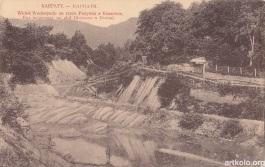Вид водоспаду на ріці Пістинка в Косові (Оренштайн)