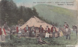 Вид гуцульскої колиби (Оренштайн)