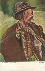 Гуцул, мал. К. Сихульський (Салон польських художників, Краків) ----- Kazimierz Sichulski