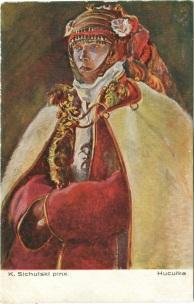 Гуцулка, мал. К. Сихульський (Салон польських художників, Краків) ----- Kazimierz Sichulski